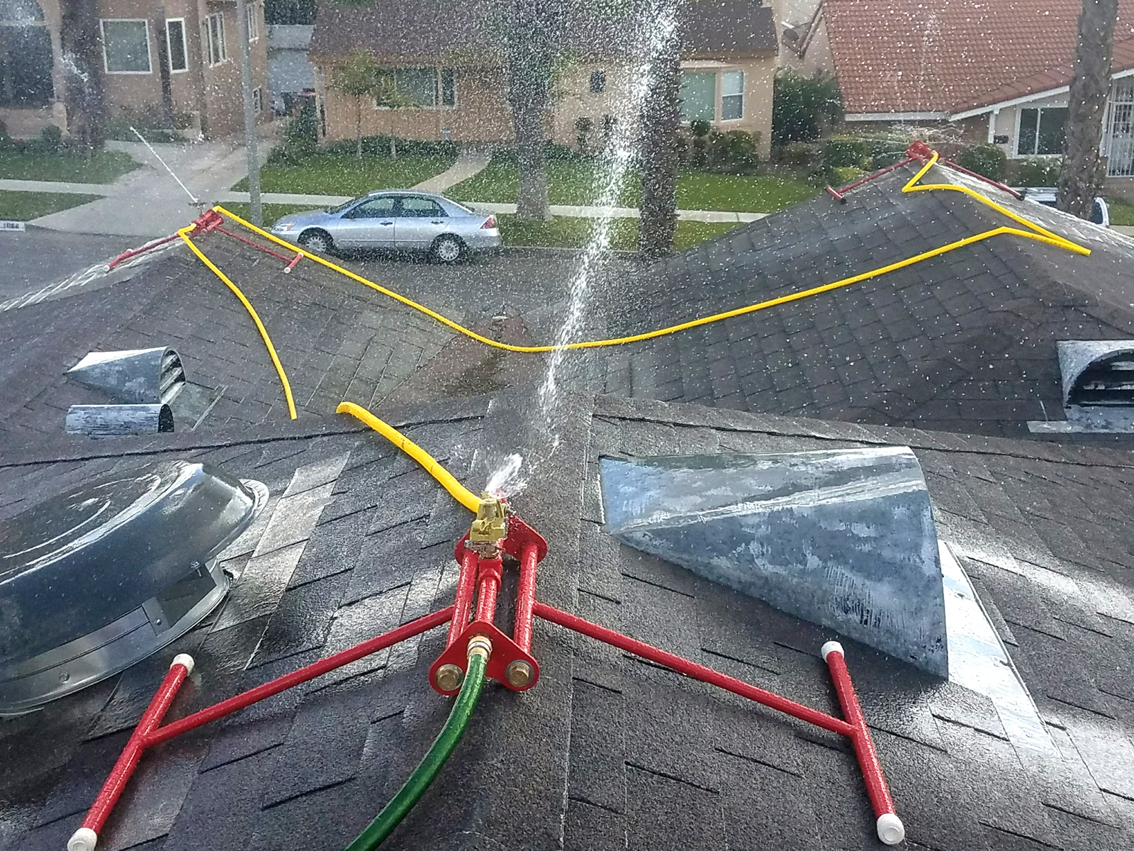 Ember S Guard Rooftop Sprinkler System Guard Your Home