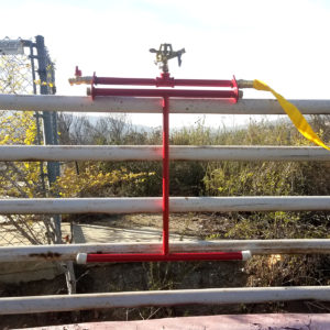 rooftop sprinkler mounted on the rail of the fence - rooftop sprinkler system - Embrs_guard-4