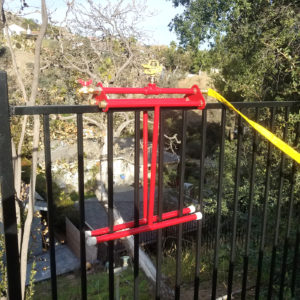 rooftop sprinkler mounted on the rail of the fence - rooftop sprinkler system - Embrs_guard-5