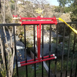 rooftop sprinkler mounted on the rail of the fence - rooftop sprinkler system - Embrs_guard-6